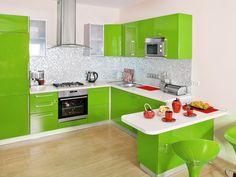 Una cocina original, alegre y colorida.