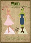 Wicked Elphaba and Galinda Paper dolls- one of 4 pages. CUTE!