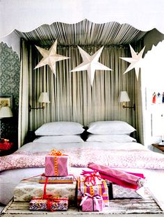 Oh my wonderful. Love the stars. And canopy. And I'd love waking up to presents every day too.