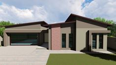 Simple House Plans, New House Plans, Soho, Garage Doors, New Homes, Flats, How To Plan, Mansions, House Styles