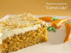 Pastel de zanahoria (Carrot Cake) | Recetas Thermomix | MisThermorecetas Cake Thermomix, Thermomix Desserts, Cookie Recipes, Dessert Recipes, Happy Foods, No Bake Treats, Bellini, Let Them Eat Cake, Sweet Recipes