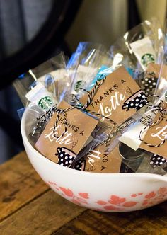 Thanks a Latte Favor Tags for a coffee baby shower | mkkmdesigns