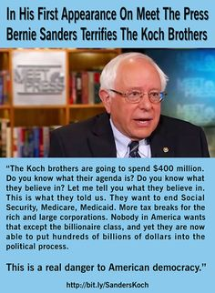 People like the Koch brothers believe that their wealth buys them the right to do whatever they want to anyone they want (also the amount shown is low, since they have announced that they alone plan to spend about $900-Million in the 2016 Election!). They have set their sights on virtually our entire nation, but that will work only if the American people lay down and allow them to. This is a real danger to our Democracy - Vote as if your life depends on it in November, 2016 ... because it…