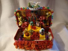 bottlecap shrione | Dia de los Muertos Ofrenda Desktop Shrine by SilverMoonGallery