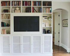 flat screen tv and entertainment center cordless family room via gardenista