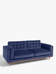 I found this at John Lewis & Partners. What do you think? Velvet Sofa Bed, Blue Velvet Sofa, Pink Velvet, Led Furniture, Furniture Plans, Kitchen Sofa, Bolster Cushions, 2 Seater Sofa, Curtains With Blinds