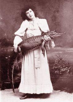 thesunshinesinthebedroom:  Alligator Charmer, 22Barnum & Bailey Circus, 1894