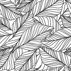vector-hand-drawn-doodle-leaves-seamless-pattern-abstract-autumn-black-white-background-nature-organic-line-illustration-57601356.jpg (400×400)