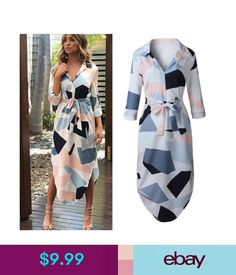 248abcc431 Dresses Women Summer Short Sleeve Cocktail Evening Party Maxi Dresses Beach  Sundress  ebay  Fashion