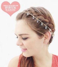 DIY Crystal Headpiece. Bridal, prom, party hair jewelry.