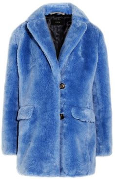 Not going to lie- this looks SO #cozy and warm. #winteriscoming #hygge -- J.Crew - Yuna Faux Fur Coat - Blue