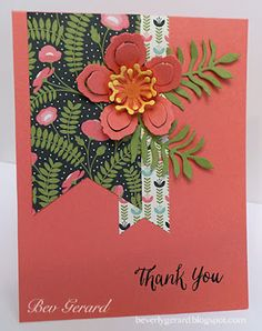 Confession and a Calypso Thanks! Bev / Texas Rubber & Ink! Rose Wonder stamps (sentiment) and Botanical Builder Framelits