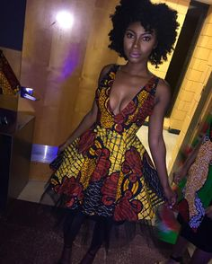 ThinBlackGirls — dswsubmit: ・・・ For make-up. African Inspired Fashion, African Print Fashion, Fashion Prints, Africa Fashion, Short African Dresses, Latest African Fashion Dresses, African Attire, African Wear, Fashion Models