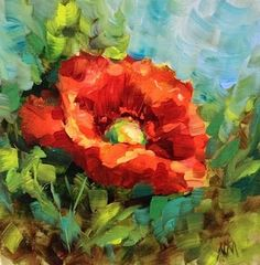 ce154f4578f49 Tuscan Poppy and a Flower Painting Workshop by Texas Flower Artist Nancy  Medina by artist Nancy Medina