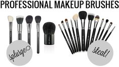 Splurge Steal Beauty: Professional Makeup Brushes #dupe