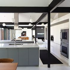 Kitchen in this renovated mid-century modern home in Southern California. Credit: Crosby Doe Associates, Inc.