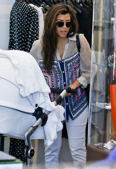 Mara Hoffman Button Down Combo Blouse - as seen on Kourtney Kardashian