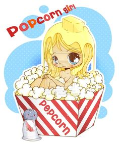 www.yampuff.com lolliepos | Chibi Popcorn Girl by *YamPuff on deviantART