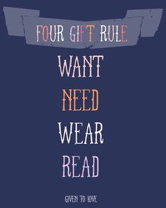 4 gift rule for kids