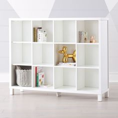 """The six-cube Cubic Wide Bookcase (brown) is perfect for any playroom, kids room, living room, or any place in your house that ends in """"room"""". Cube Storage Unit, Playroom Storage, Toy Storage Boxes, Storage Spaces, Playroom Ideas, Nursery Ideas, Crate Bookcase, Wide Bookcase, Kids Toy Boxes"""