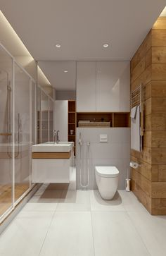 Family apartment in Samara on Behance New Bathroom Ideas, Best Bathroom Designs, Bathroom Design Small, Bathroom Interior Design, Home Interior, Home Design Decor, House Design, Small Toilet Room, Bathroom Floor Cabinets
