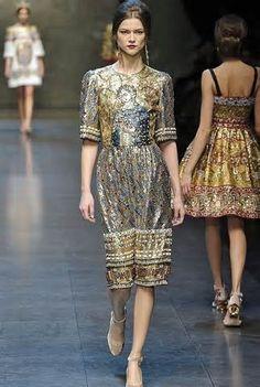 gold mosaic dress