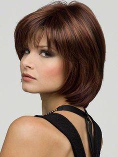 Haley by Envy Wigs : Monofilament Top   Color Cinnamon-Raisin