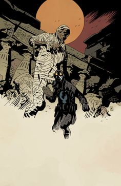 Mike Mignola | Lobster Johnson and mummy
