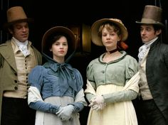 Jane Austen's 'Northanger Abbey' with Felicity Jones and Carey Mulligan as Catherine Morland and Isabella Thorpe. Jane Austen Northanger Abbey, Jane Austen Movies, Sweet Lady Jane, Becoming Jane, Felicity Jones, Beautiful Costumes, Movie Costumes, Pride And Prejudice, Period Dramas