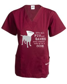 It's All Fun and Games Scrub Top! #dogisgood I want this scrub shirt!