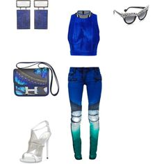 Untitled #8 by atlienfashioned on Polyvore featuring polyvore, fashion, style, Alexander Wang, Balmain, Giuseppe Zanotti, Hermès, ADORNIA and Anna-Karin Karlsson