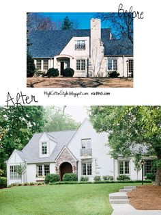 before and after house renovation