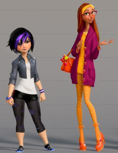 The Big Hero 6 characters Gogo and Honey Lemon!