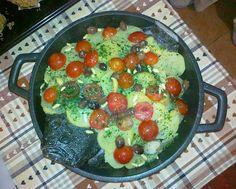 Briciole di Sapori           : Rombo al forno con olive taggiasche