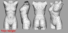 3d Model Character, Character Design Girl, Character Modeling, Female Torso, Female Bodies, Human Anatomy, 3d Anatomy, Polygon Modeling, Anatomy Models