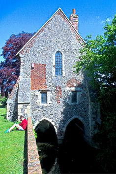 Greyfriars Chapel, click for more images of Canterbury England #canterbury #england #travel