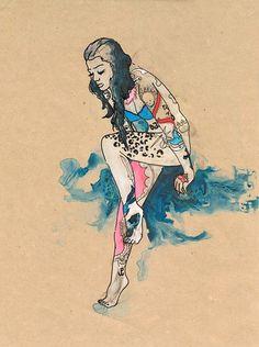 sooo gorgeous — tattoo lady by Cat Rocketship