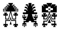Archivo:Three Lukutuwe drawings.svg Native American Patterns, Native American Quotes, Tribal Images, Tribal Art, Paper Bead Jewelry, Paper Beads, Ethnic Patterns, Loom Patterns, Pottery Designs
