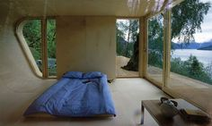Small Lake House Architecture From Wooden Materials   Bedroom