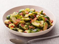 Get this all-star, easy-to-follow Brussels Sprouts with Bacon recipe from Rachael Ray.
