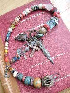 Necklace by fancifuldevices using some greybirdstudio beads