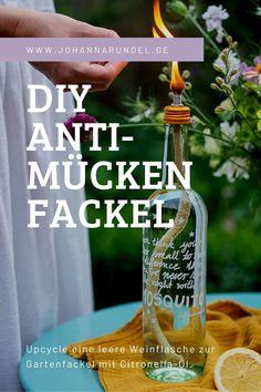 Gewinnspiel und Weinflaschen-Upcycling: Anti-Mücken Fackel Citronella, Coconut Water, Tricks, Bbq, Personal Care, Crafty, Bottle, Outdoor, Summer