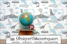 Prehistoric - Dinosaurs and Shark  [FUN-49140] Just Fun Vol. 1 | DesignerWallcoverings.com ™ - Your One Stop Showroom for Custom, Natural, & Specialty Wallcoverings | Largest Selection of Wall Papers | World Wide Showroom | Wallpaper Printers