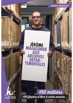Jérôme, magasinier aux Archives départementales de la Haute-Vienne
