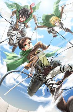 Z-550 Attack on Titan 2 Eren Jaeger Hot Anime Comic Moive Film Poster Art Decor
