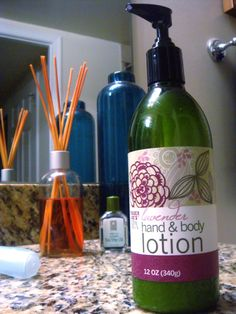 Trader Joe's Lavender Hand & Body Lotion. Smells delicious, makes my skin feel great. Doesn't cost too much! Oh how I love this stuff!