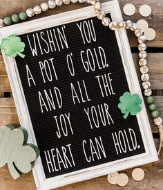 sayings for letter boards St. Patrick's Day Letterboard Word Board, Quote Board, Message Board, St Patrick's Day Crafts, Holiday Crafts, Easter Quotes, Easter Sayings, Free Christmas Songs, Christmas Chalkboard Art