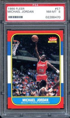 75d0286d2052 1986 Fleer  57 Michael Jordan PSA 8 RC Sharp High End Rookie  MichaelJordan