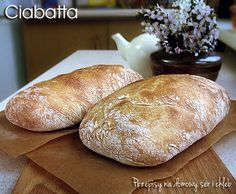 Polish Recipes, Polish Food, Our Daily Bread, Ciabatta, Bread Rolls, How To Make Bread, Menu, Cooking Recipes, Baking