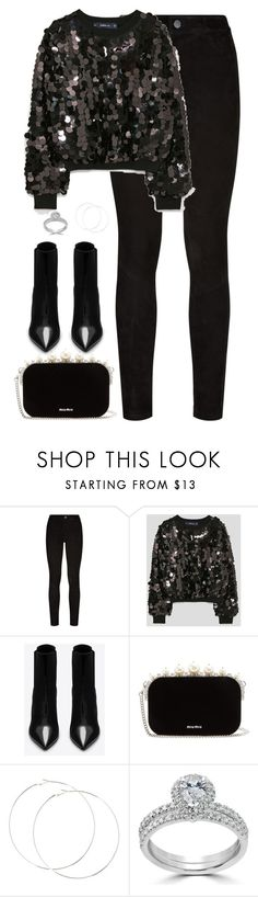 """Untitled #4580"" by magsmccray ❤ liked on Polyvore featuring Paige Denim, Yves Saint Laurent, Miu Miu and Bliss Diamond"